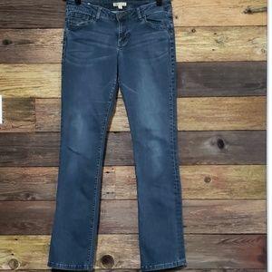 CAbi Straight Leg Mid-Rise Jean